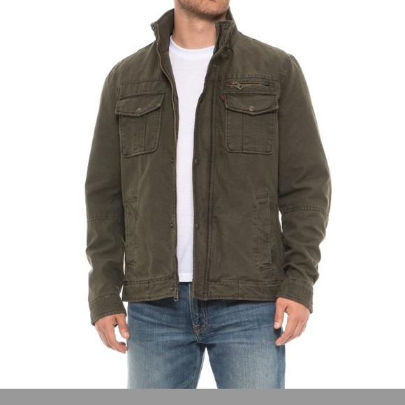 Mens Levis Army Green Jacket